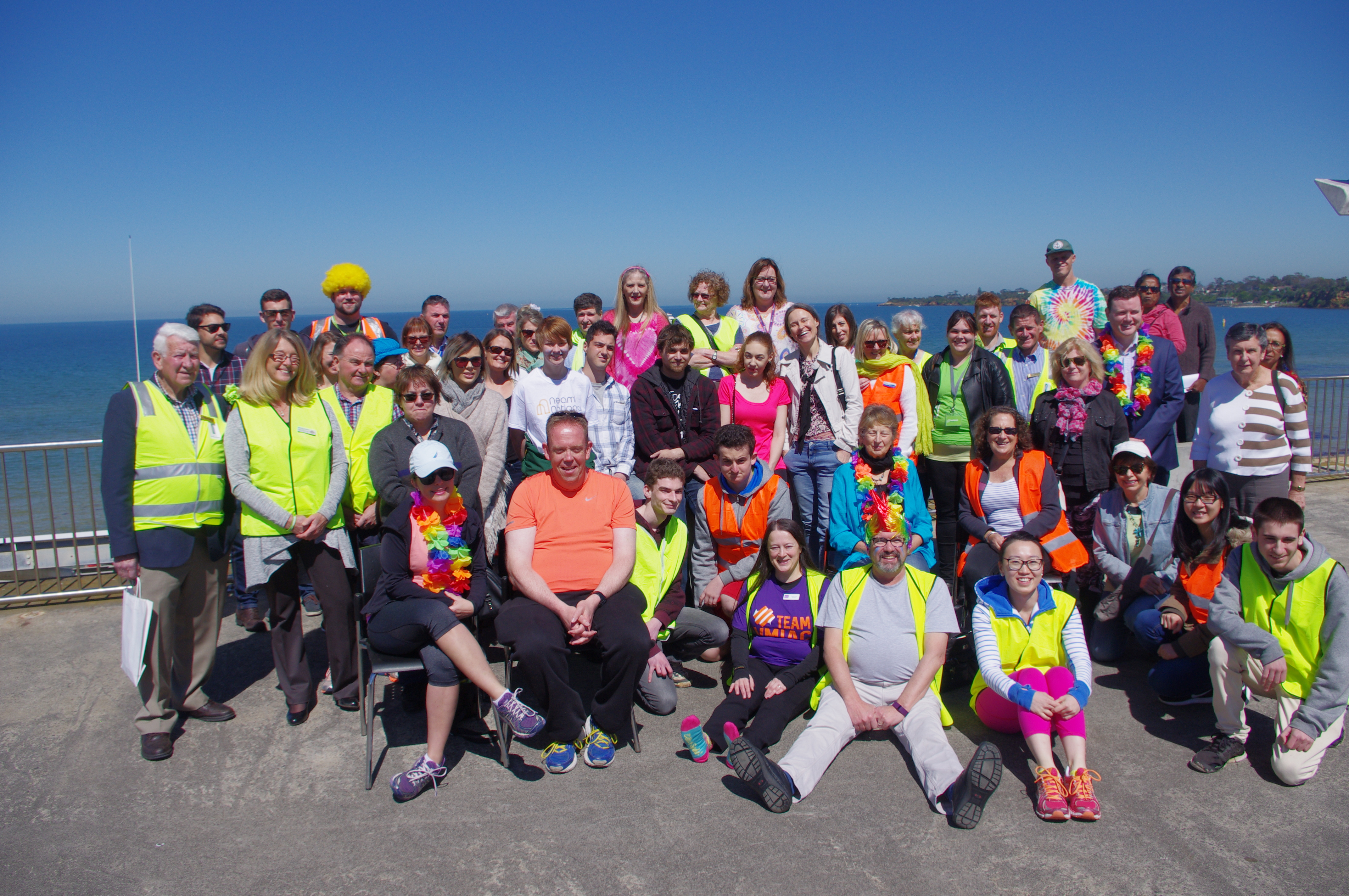 Fluro Friday participants at Mentone Life Saving Club